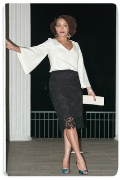 Review: Vogue Patterns 8945 & 8916 | Black & White for Fall Nights! | Erica B.'s - D.I.Y. Style!