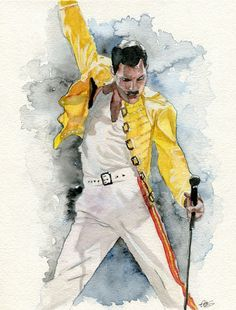 The greatest gay to ever live Freddie Mercury. The greatest gay to ever live Freddie Mercury. The greatest gay to ever live Freddie Mercury. The greatest gay to ever live Watercolor Artwork, Watercolor Portraits, Pop Art, Queen Drawing, Rock Poster, Queens Wallpaper, Queen Photos, Queen Art, Queen Freddie Mercury