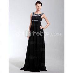 [US$ 149.99] Empire Scoop Floor-length Chiffon Evening Dress