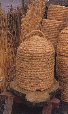 ≗ The Bee's Reverie ≗  woven bee skeps