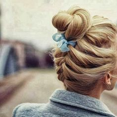 Cute Hairstyle with Braided Bun, Street Style World of Women Fashion