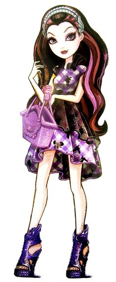 Ever After High - Raven Queen! Contrary to popular belief at Ever After High, Raven Queen is not evil or even so much as mean. Ever After High Rebels, High E, Raven Queen, Bratz Doll, Children Images, Monster High Dolls, Cartoon Pics, Fashion Sketches, Pin Up