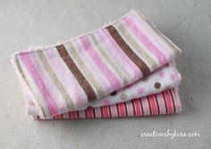 Chenille Backed Baby Washcloths