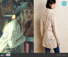 Shay's cream knit cardigan on Orphan Black.  Outfit Details: http://wornontv.net/49407/ #OrphanBlack
