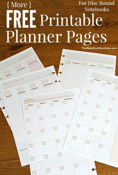 Free printable 2017 planner pages - perfect for the junior size Arc notebook or other disc bound planner systems