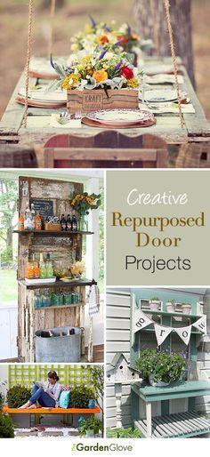 Repurposed Door Projects for the Garden • Lots of ideas & Tutorials!