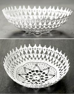 Salt Crystal Lace Bowl