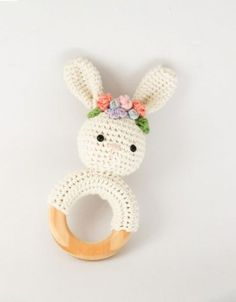Spring Bunny Rattle Crochet Pattern