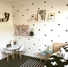 Baby Boy Room Little Triangles Wall Sticker For Kids Room Decorative Stickers Children Bedroom Nursery Wall Decal Stickers Wall Stickers Triangles, Baby Wall Stickers, Kids Room Wall Decals, Wall Decor Stickers, Nursery Room Decor, Kids Bedroom, Decorative Stickers, Wall Stickers For Baby Room, Baby Boy Bedroom Ideas