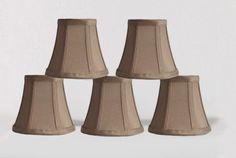 Urbanest 1100463b Set of 5 Chandelier Mini Lamp Shades 5-inch, Bell, Clip On, #Urbanest