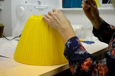 Gathered lampshade making course with Cocoon Home