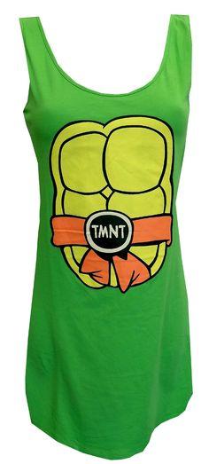 Teenage Mutant Ninja Turtles Tank Style Night Gown