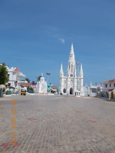 """Church of our Lady of Ransom"", a landmark on Main Beach road in the town of Kanyakumari."
