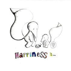 On instagram by annamoserillu #madewithpaper #enclavedepod (o) http://ift.tt/1XLEMln. Happiness is... #365doodleswithjohannafritz @byjohannafritz see world through the eyes from a child. Man läuft so häufig an den schönsten Dingen vorbei man verpasst die tollsten Momente weil man keine Zeit hat. Für mich ist Glück inne zu halten und mal die Welt wieder neu zu betrachten Vielleicht mal aus den Augen eines Kindes!? #happiness #glück