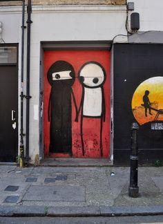 Stik Street Art in East London
