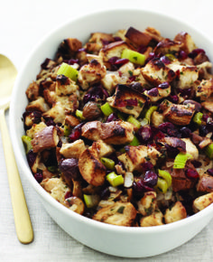 Cranberry-Chestnut Challah Stuffing from Joy of Kosher by Jamie Geller