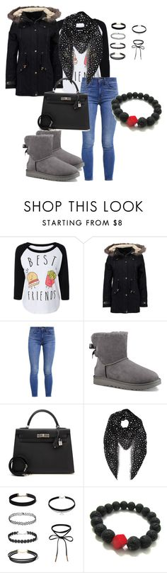 """Untitled #37"" by juliaschaefer1998 ❤ liked on Polyvore featuring even&odd, Levi's, UGG, Hermès and Yves Saint Laurent"
