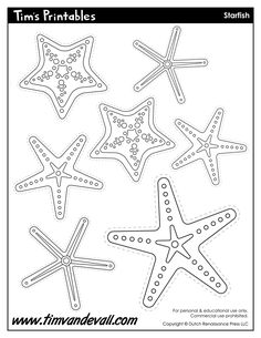 starfish-templates.jpg (927×1200)