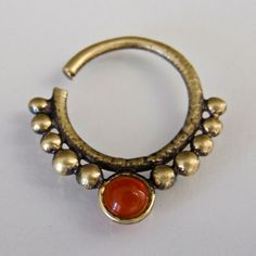 Unique Brass Septum For Pierced Nose - Body Jewelry - Septum Jewelry - Indian Nose Ring - Ethnic Septum - Septum Piercing - Nose Jewelry Septum Ring, Septum Piercing Jewelry, Nose Jewelry, Royal Jewelry, Custom Jewelry, Septum Clicker, Brass Jewelry, Gold Jewellery, Indian Jewellery Online