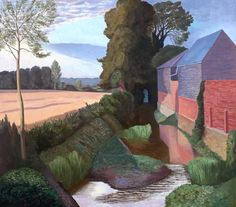 John Nash (UK 1893–1977) Mill Building, Boxted (1962) oil on canvas 86.8 x 97.5 cm