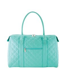 LOVE AQUA! Find the City Tote - Aqua on page 28 of the Spring & Summer 2014 StyleBook! #iiSS14 www.MyInitials-inc.com/KimBriese