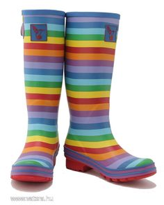 Evercreatures Funky Wellies Women's Rainbow Tall Wellington Boots Natural Rubber Cotton Lining and Adjustable Gusset Free Standard Delivery available Funky Wellies, Ladies Wellies, Mould Design, Funky Design, Wellington Boot, Natural Rubber, Rubber Rain Boots, Color Pop, Cool Style