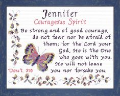 Jessica - Name Blessings Personalized Cross Stitch Design from Joyful Expressions