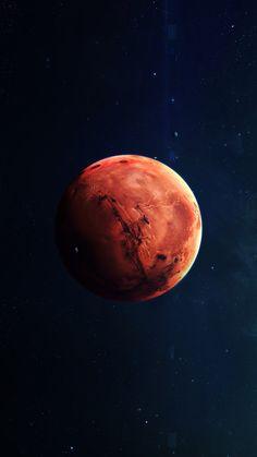Ay Gezegen Mars Iphone 6 Wallpaper Wallpapers Backgrounds Planet Drawing