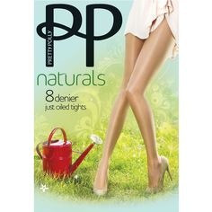 Pretty Polly Naturals 8 Denier Oiled Tights