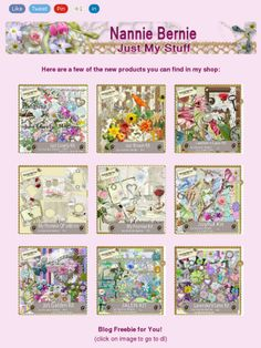 """Ad:New Scrapkits """"Just Lovely"""" & """"Just Brown"""",Freebie, and More  from Nannie Bernie!https://madmimi.com/s/0c0315"""