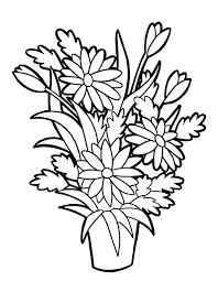 pots coloring pages | Printable flower pot coloring page. Free PDF download at ...