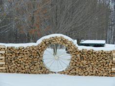 Creative wood pile