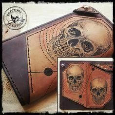 Long tattooed wallet Wallet, Tattoos, Leather, Pocket Wallet, Tatuajes, Tattoo, Handmade Purses, Japanese Tattoos, Tattoo Illustration