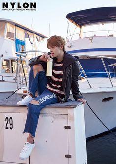 Photo )) BTOB Yook SungJae for October issue of Nylon Magazine 2017 Sungjae Btob, Im Hyunsik, Lee Minhyuk, Korean Celebrities, Korean Actors, Korean Idols, Korean Drama, Asian Actors, Marie Claire