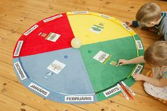 Math > Time/Date  Montessori kids year circle