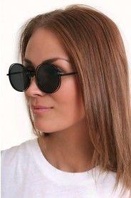 Le Specs  BADMAN BLACK Round Sunglasses, Sunglasses Women, Black Smoke, Le Specs, Eyewear, Lens, Accessories, Fashion, Moda