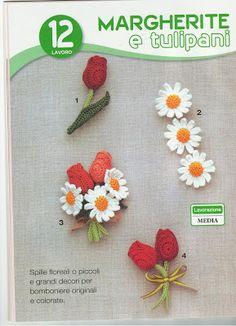 margherite e tulipani uncinetto spiegazioni in italiano | Il blog di Vera Maglia&Uncinetto