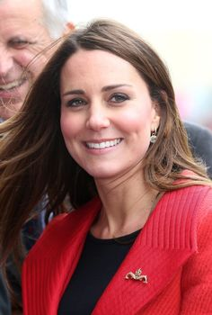 5th April, 2013: BARROW-IN-FURNESS, UNITED KINGDOM - Catherine, Duchess of Cambridge, arrives at the Astute-class Submarine Building at BAE Systems on April 5, 2013 in Barrow-in-Furness, United Kingdom. The Duke of Cambridge is Commodore-in-Chief of the Royal Navy Submarine Service and during their visit they will tour the offices of Vanguard replacement programme and meet with the crew of Artful and their families, who are now based in Barrow.