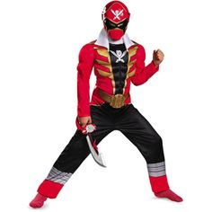 Red Ranger Muscle Child Halloween Costume