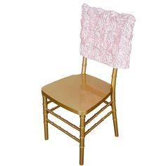 Rose Gold Theme, Gold Wedding Theme, Chic Wedding, Chair Bows, Chair Sashes, Chiavari Chairs, Banquet Chair Covers, Satin Ribbon Roses, Spring Wedding Decorations