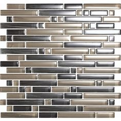 EPOCH Architectural Surfaces�12-in x 12-in Brushstrokes Multicolor Glass Wall Tile $22.50 sf Lowes