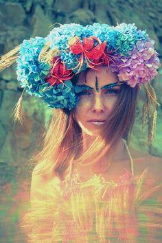 serious flower crown