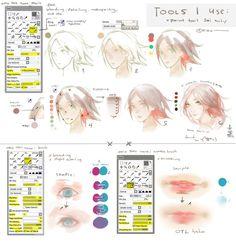 SAI: Tools I use + Settings + a bit tutorial by keerou on deviantART