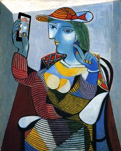 'self shot' after 'portrait de marie therese walter' by pablo picasso, 1937