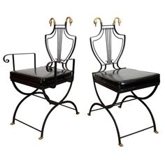 Mid Century Set of Eight Chairs by Maison Jansen | nyshowplace.com