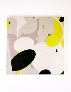 Festoon by Celia Johnson, 2013, encaustic & alkyd on wood panel