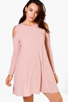 Plus Averie Open Shoulder Swing Dress