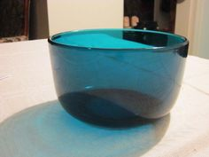 Riihimäen lasin tarjoilukulho ja jälkiruoka kipot