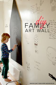 DIY family art wall