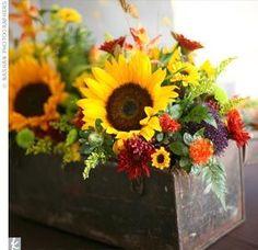 Beautiful little arrangment... sunflowers
